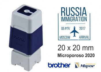 Sello microporoso BROTHER tinta recargle 20 x 20 Azul personalización incluida