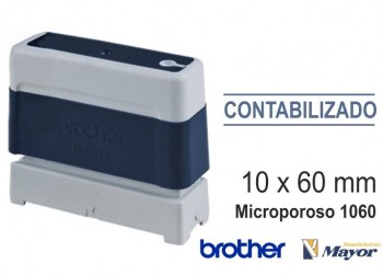 Sello microporoso BROTHER tinta recargle 10 x 60 Azul personalización incluida