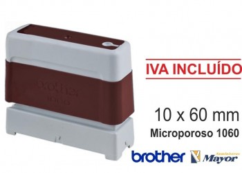 Sello microporoso BROTHER tinta recargle 10 x 60 Rojo personalización incluida