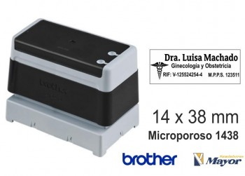 Sello microporoso BROTHER tinta recargle 14 x 38 Negro personalización incluida