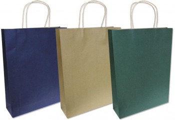 Bolsa Regalo Kraft lisa 560 x 325 x 190 mm. Grande 170 gr. Colores surtidos