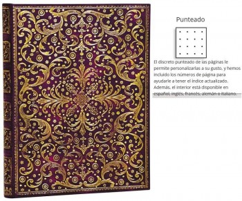 Bloc PAPERBLANKS Ultra 180 x 230 mm. Bullet Journal Puntos 240 Paginas 100 gr. Aurelia