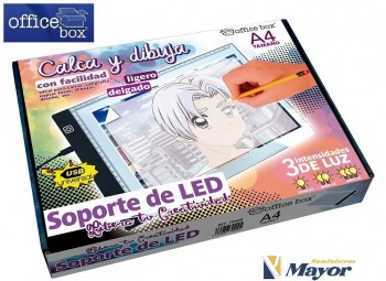 Pantalla Dibujo OFFICE BOX Led 3 intensidades USB Incluido A4
