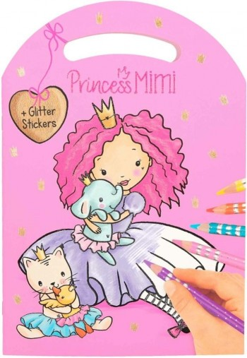 MY STILE princess cuaderno de colorear con pegatinas brillantes
