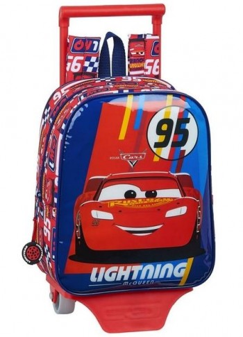 Mochila Disney CARS Troley Racing Block Guarderia 27 x 22 x 10 cm.
