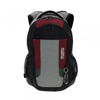 Mochila TOTTO Pc. y Tablet Kriptone negro/burdeos/gris