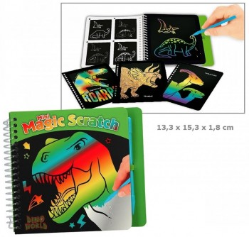 DINO WORLD libro dibujos magicos Mini Magic Scratch