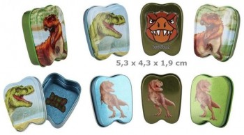 DINO WORD Cajita Metal guarda dientes