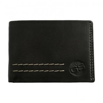Cartera GS URBAN Torino mini Piel billetero tarjetero monedero etc. Negro