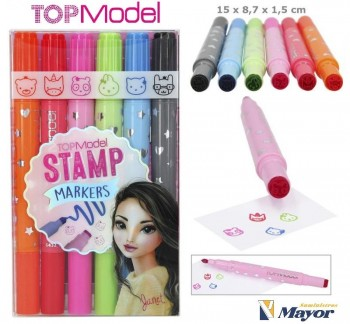 TOP MODEL Rotuladores con sello stamp markers